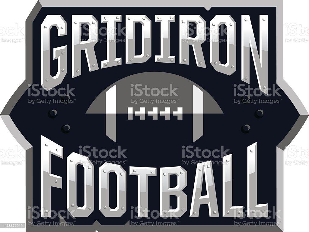 Gridiron Football Icon royalty-free gridiron football icon stock vector art & more images of 2015