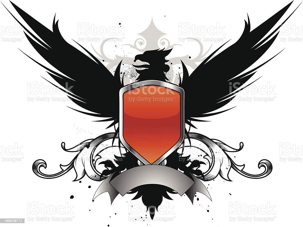 griffin crest III royalty-free stock vector art