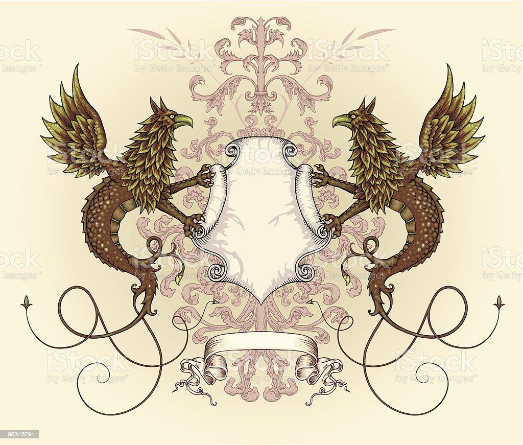 Griffin Drago shield griffin drago shield - immagini vettoriali stock e altre immagini di acquaforte royalty-free