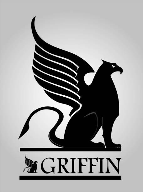 그리핀, 그리 폰, gryphon - 그리핀 stock illustrations
