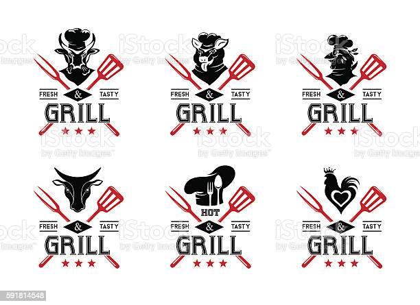 Grill and steak menu labels collection vector id591814548?b=1&k=6&m=591814548&s=612x612&h=jg6p5ymx2o5j66fljjbbsib9iiaywieiswkeljshrpu=