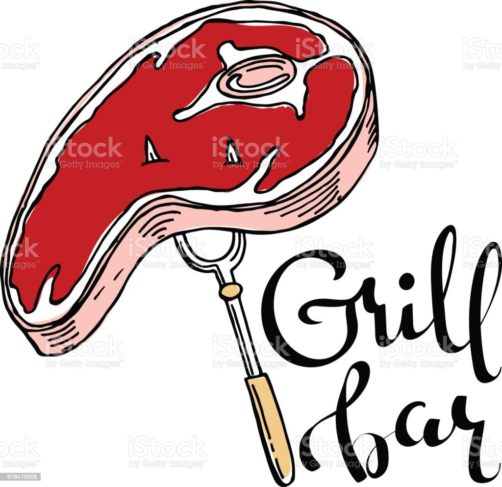 grill bar hand drawn cartoon vector logo stock illustration download image now istock grill bar hand drawn cartoon vector logo stock illustration download image now istock
