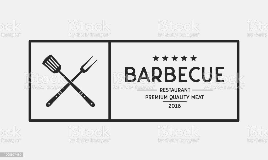 Grill Restaurant Logo Barbecue Restaurant Menu Emblem