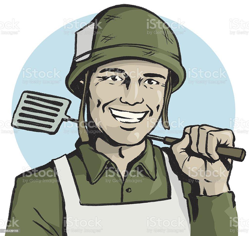 Grill Sergeant vector art illustration