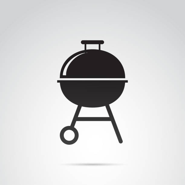 illustrations, cliparts, dessins animés et icônes de icône de vecteur de gril. - barbecue