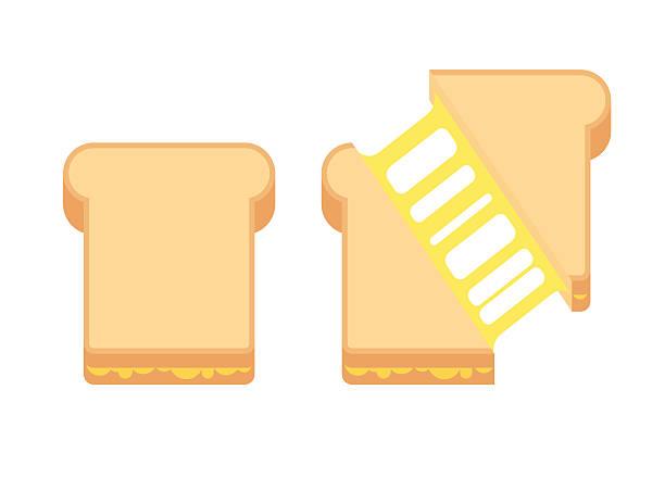 bildbanksillustrationer, clip art samt tecknat material och ikoner med grilled cheese sandwich - cheese sandwich