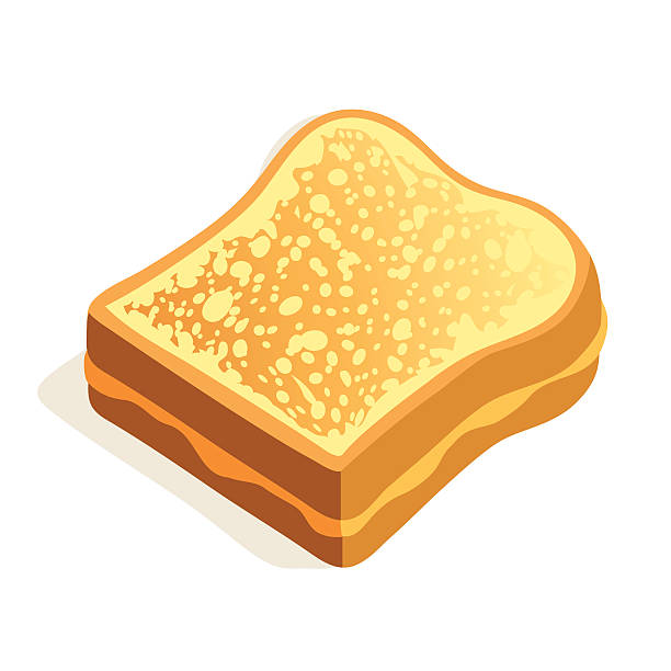 Grilled Cheese A cartoon grilled cheese sandwich. bread clipart stock illustrations