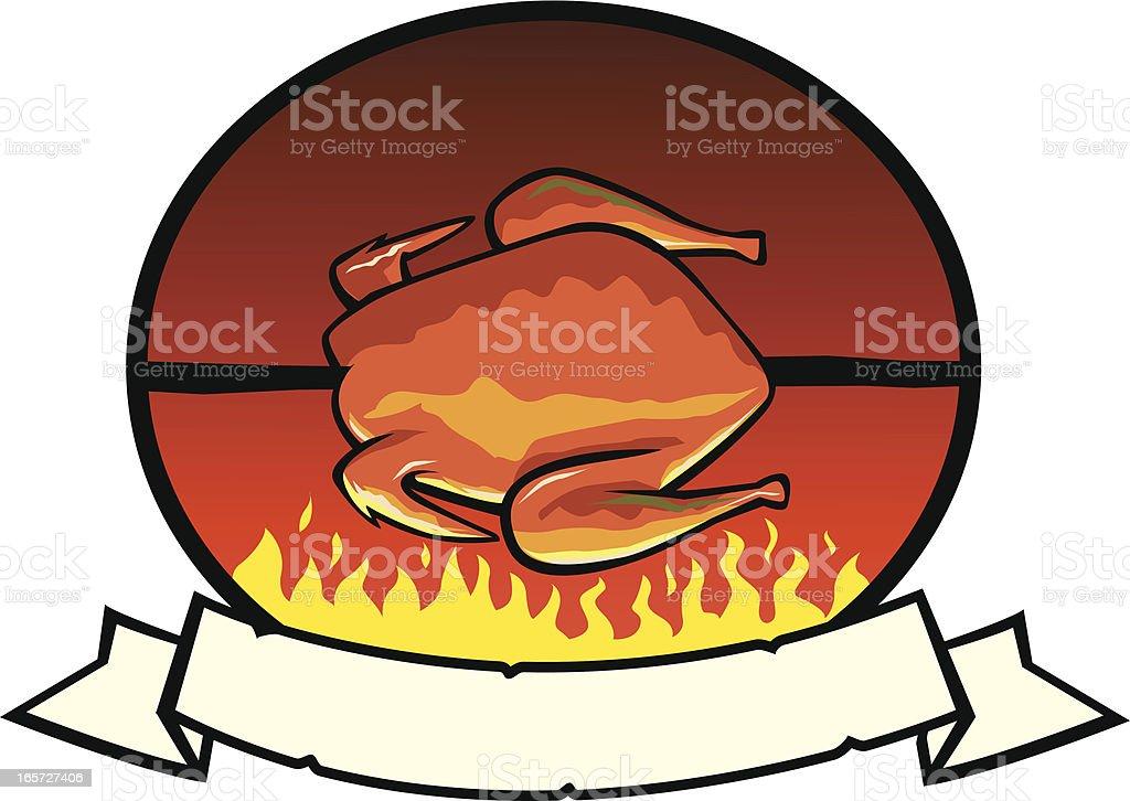 Grilled Chicken Label vector art illustration
