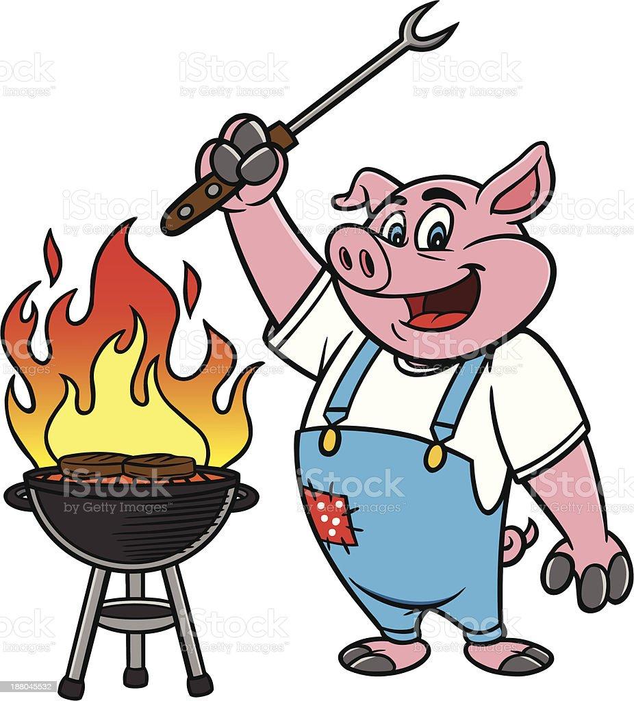 Bbq Grilling Pig Stock Illustration - Download Image Now ... (926 x 1024 Pixel)