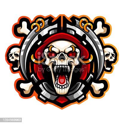 Grim reaper esport logo mascot design