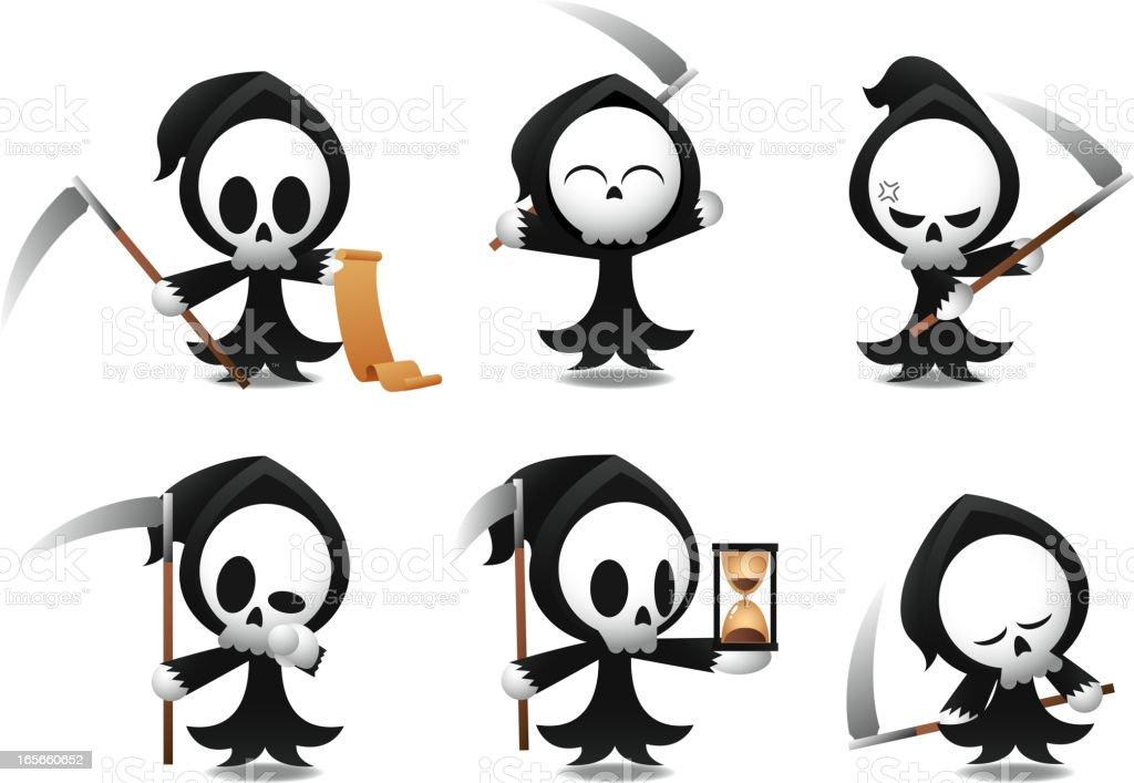 Sensenmann Symbole Halloween Stock Vektor Art und mehr Bilder von ...