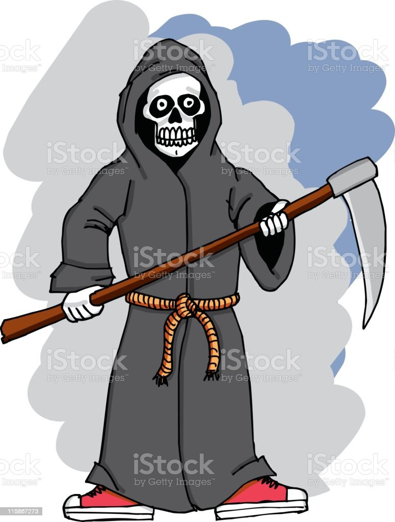Grim Reaper in Sneakers royalty-free stock vector art