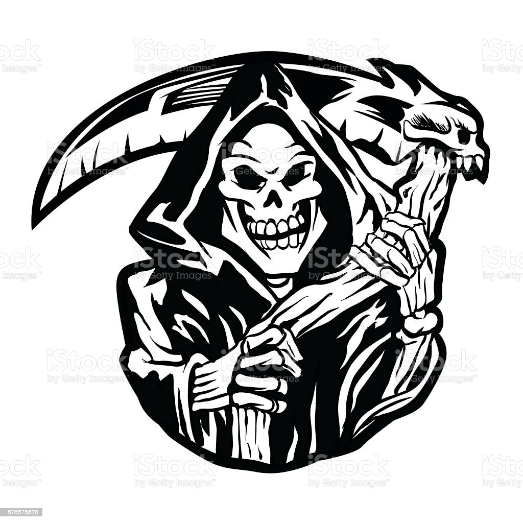 royalty free grim reaper clip art vector images