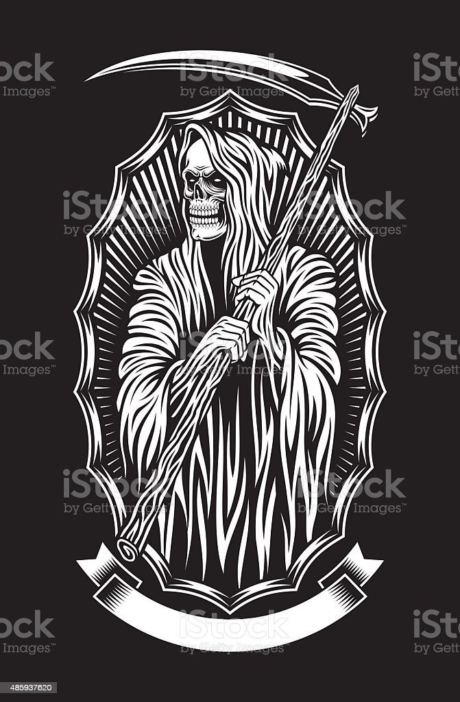 Grim Reaper Vector Art vector art illustration