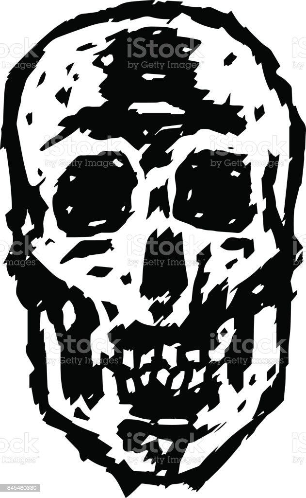 Grim skull. Vector illustration. vector art illustration