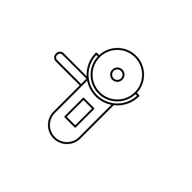 mahlwerk. element der konstruktion symbol für mobile konzept und web-apps. dünne linie schleifer für web und mobil einsetzbar - winkelküche stock-grafiken, -clipart, -cartoons und -symbole