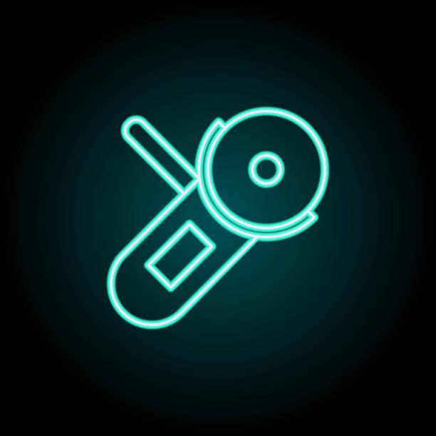 schleifer-ikone. elemente der konstruktion in neon-stil-ikonen. einfaches icon für websites, webdesign, mobile app, infografik - winkelküche stock-grafiken, -clipart, -cartoons und -symbole