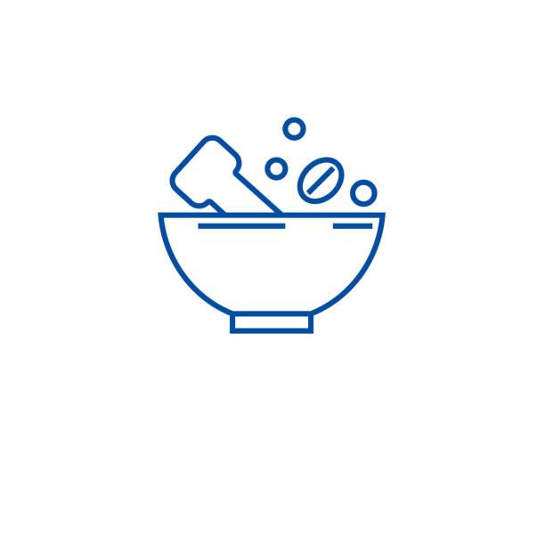 schleifen gewürze linie icon konzept. schleifen von gewürzen flaches vektorsymbol, zeichen, umrissbild. - zeichensetzung stock-grafiken, -clipart, -cartoons und -symbole