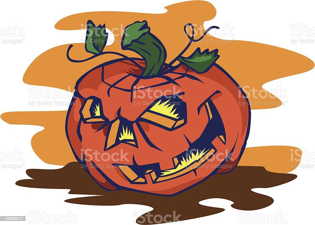 Grinning Jack-o-lantern royalty-free grinning jackolantern stock vector art & more images of autumn
