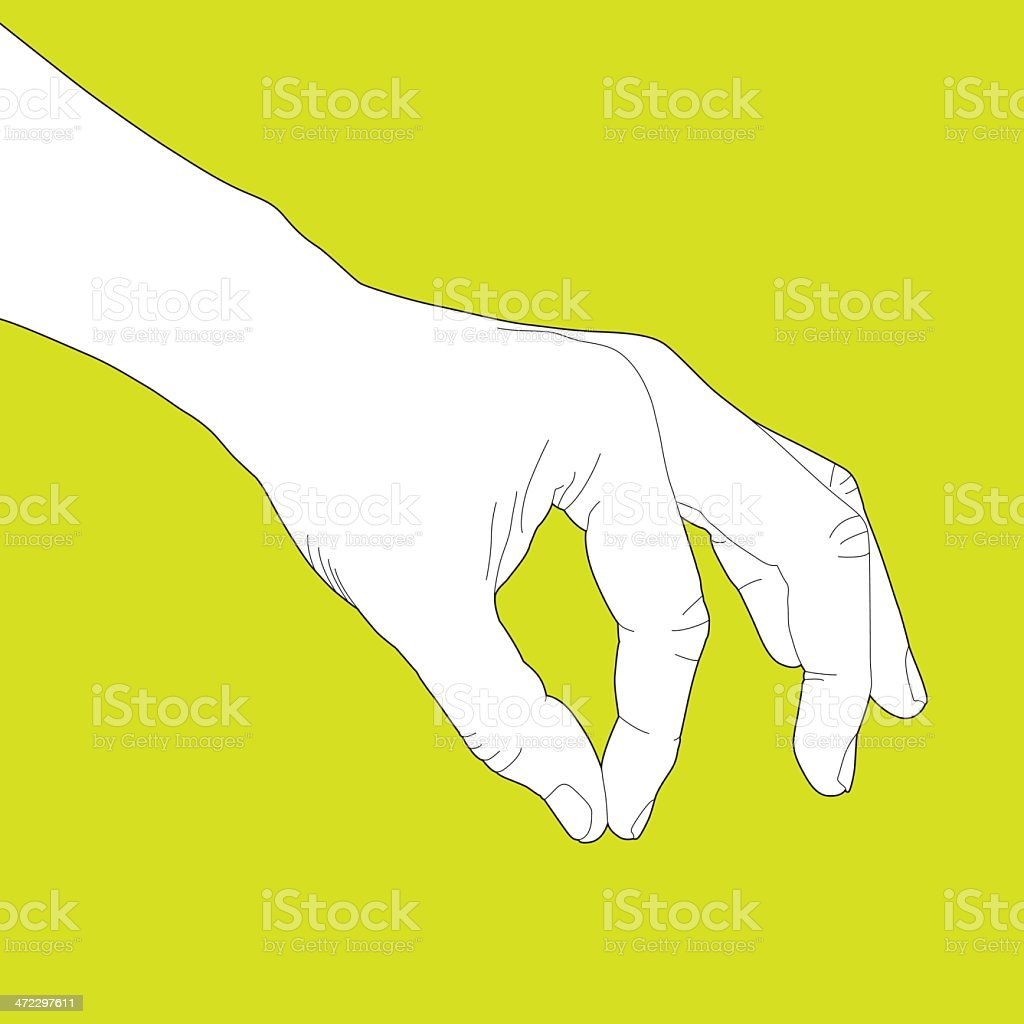 Gripping Something vector art illustration