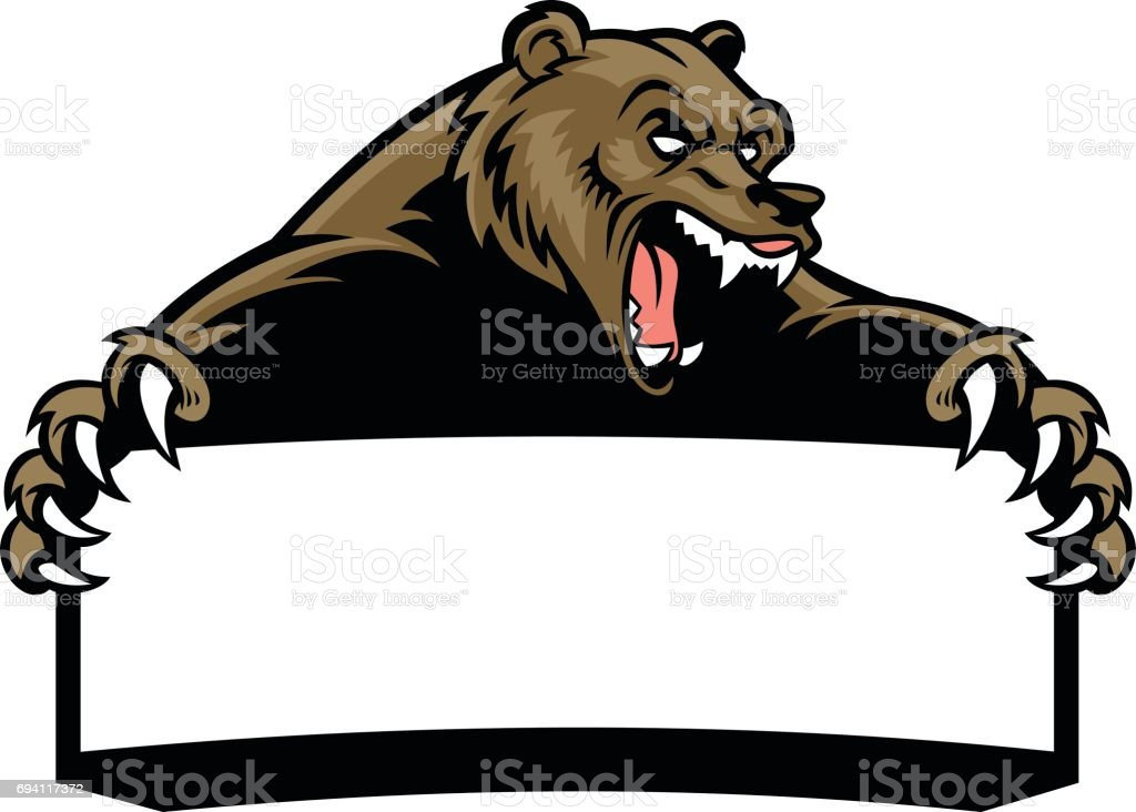 royalty free grizzly bear clip art vector images illustrations rh istockphoto com grizzly bear clipart drawing grizzly bear clipart outline