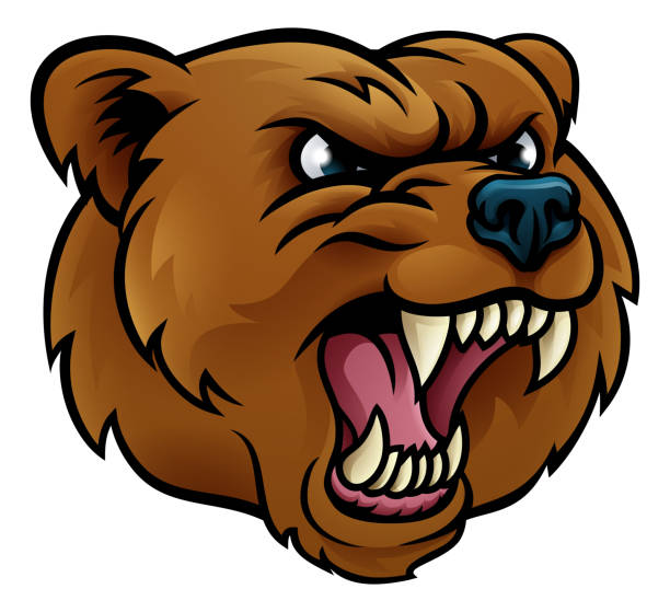 Best Clip Art Of A Scary Bear Illustrations, Royalty-Free ...