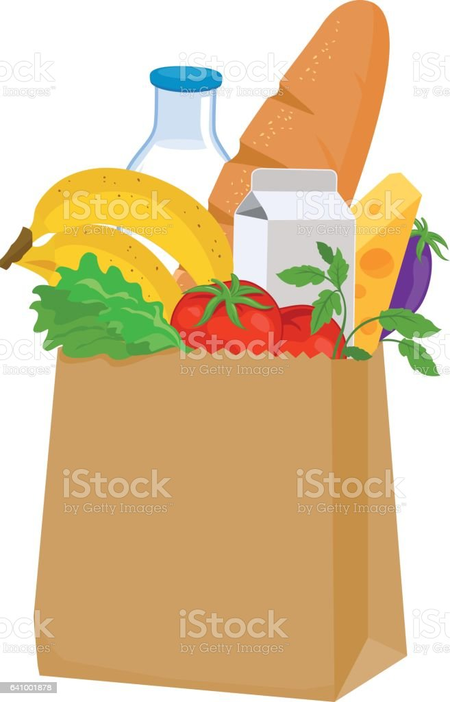 royalty free grocery bag clip art vector images illustrations rh istockphoto com groceries clipart free groceries clipart free