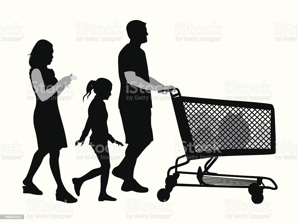 Groceries Vector Silhouette royalty-free stock vector art