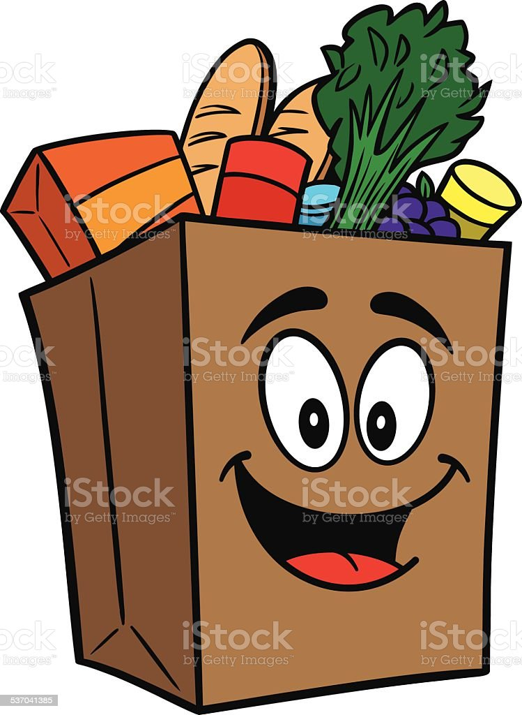 royalty free brown paper grocery shopping bags clip art vector rh istockphoto com plastic grocery bag clip art paper grocery bag clip art