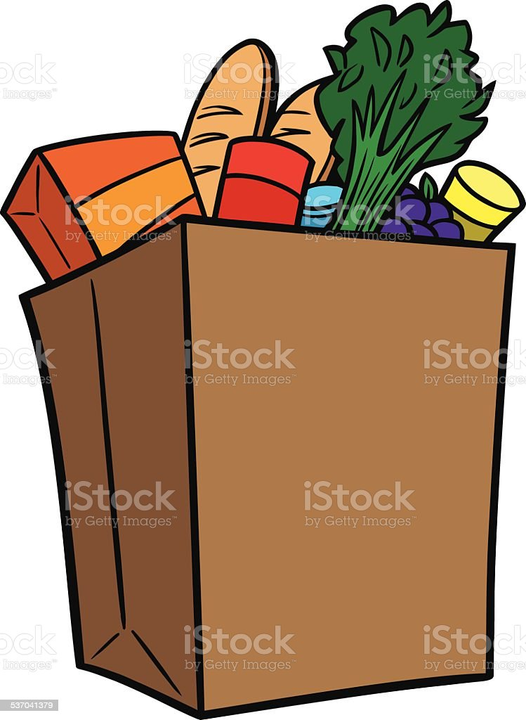 royalty free brown paper grocery shopping bags clip art vector rh istockphoto com grocery clip art photos groceries clipart free