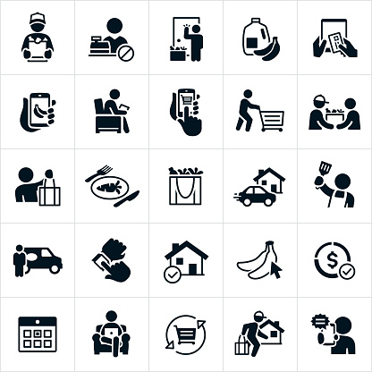 Grocery Delivery Icons