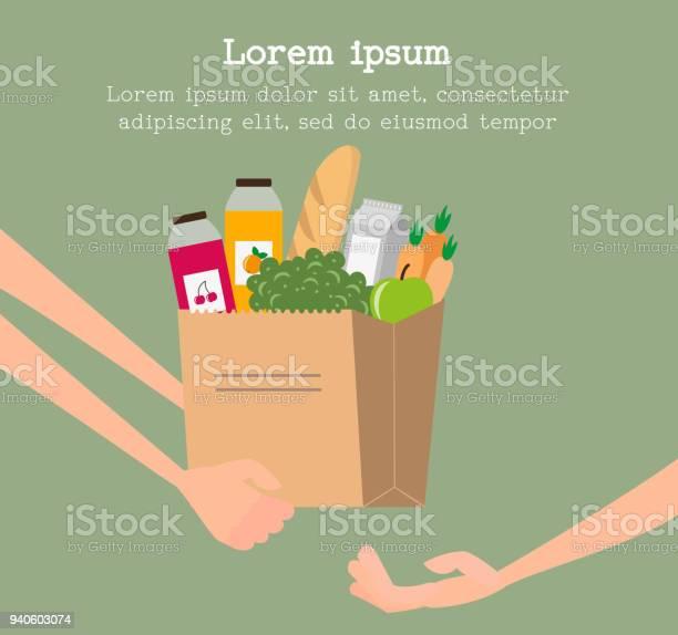 雜貨配送服務理念向量圖形及更多互聯網圖片
