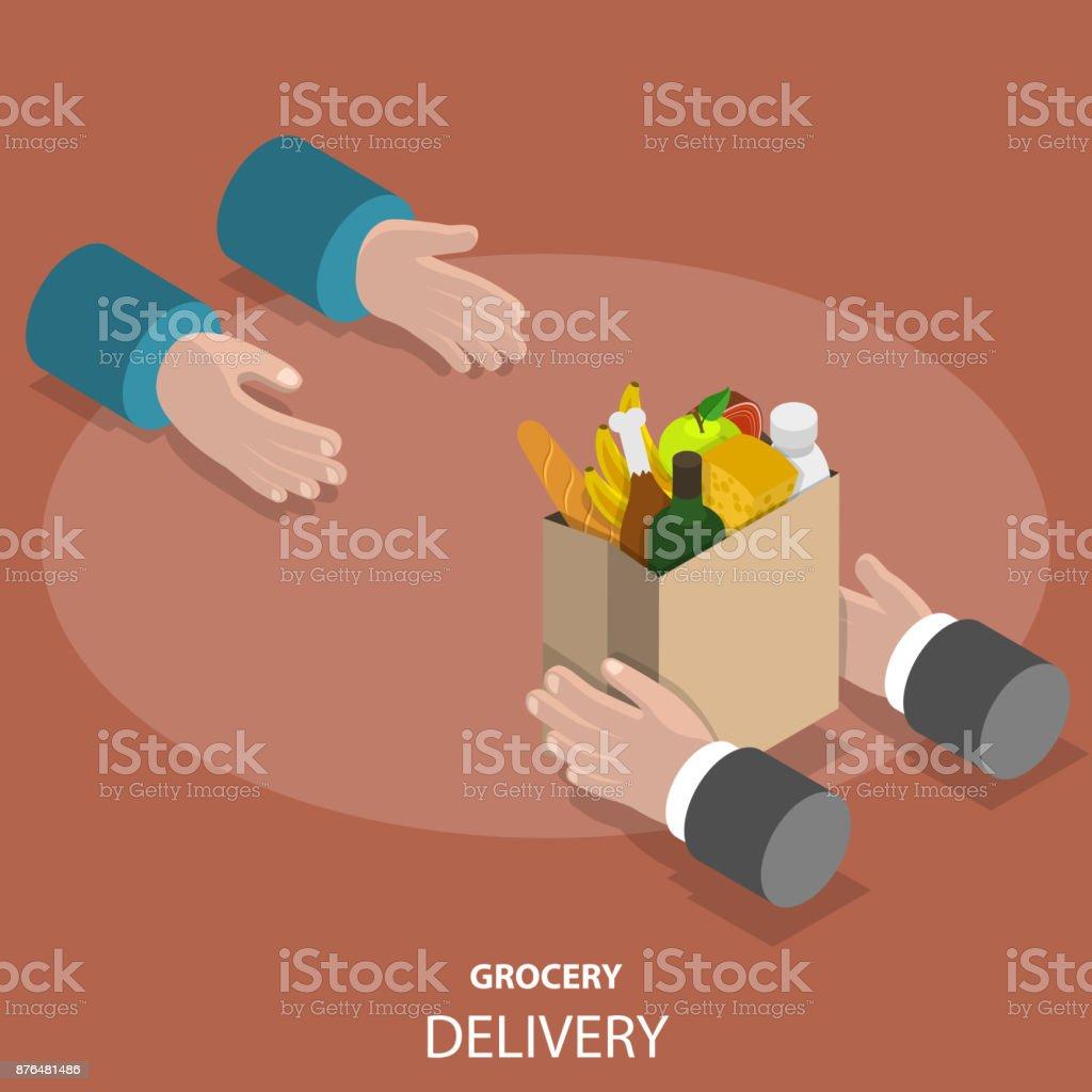 Lebensmittel-schnell-Lieferservice flat isometrische Vektor-Konzept Lizenzfreies lebensmittelschnelllieferservice flat isometrische vektorkonzept stock vektor art und mehr bilder von ausrüstung und geräte