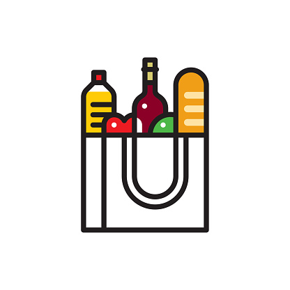 Grocery Food Bag Icon