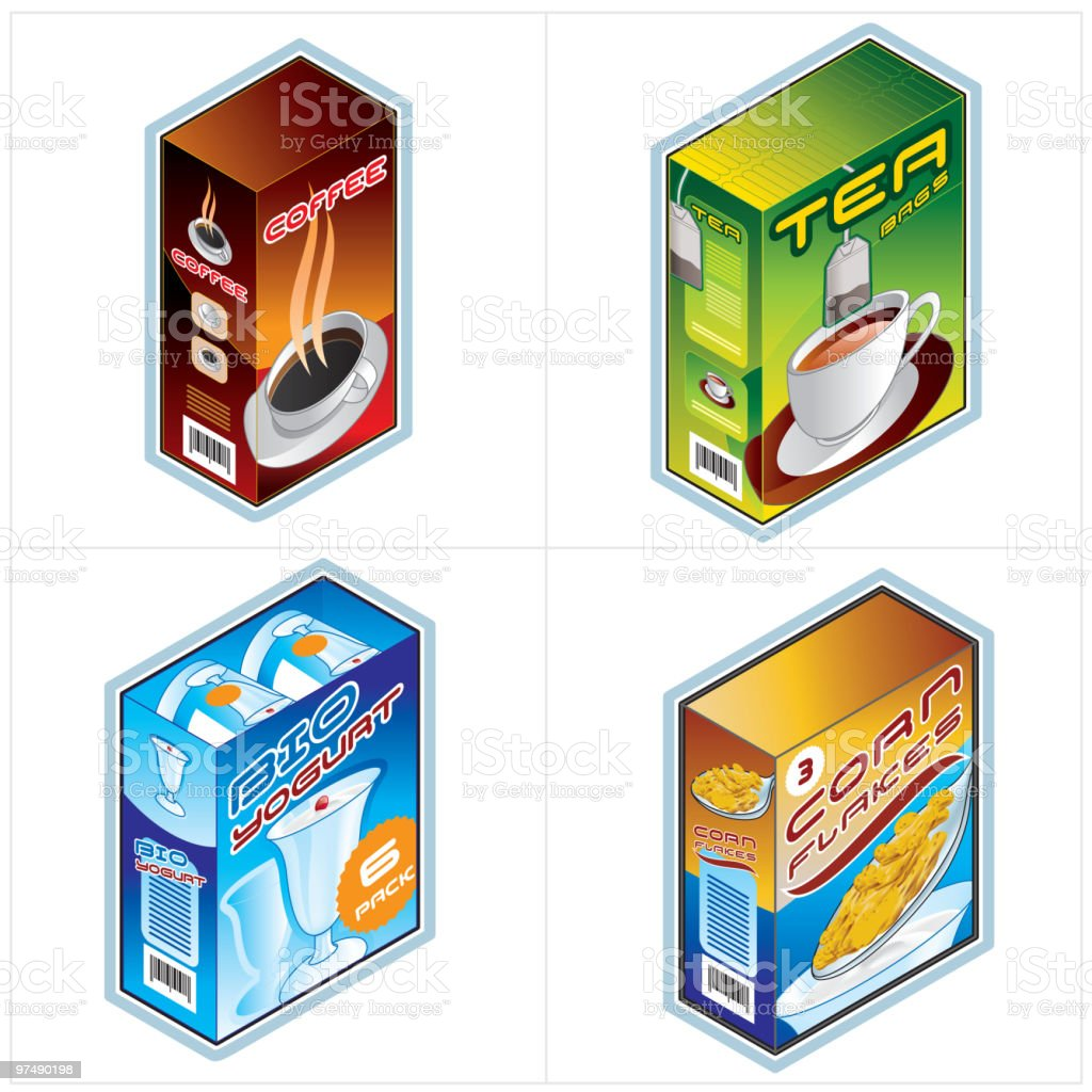 Grocery Icon Set royalty-free grocery icon set stock vector art & more images of box - container
