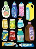 A fun collection of grocery items! For more like this see #10946256