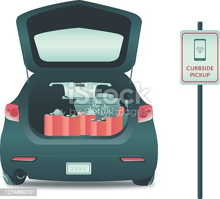 istock Grocery pickup service 1224860101