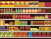 Grocery store background