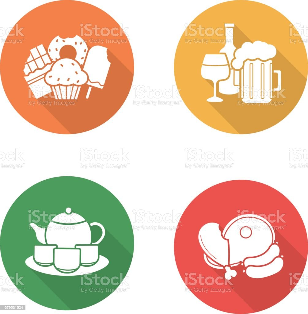 Grocery store products icons royalty-free grocery store products icons stock vector art & more images of alcohol