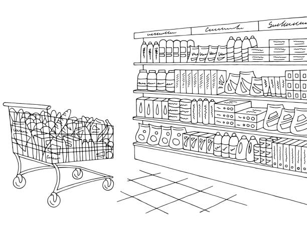 Top 60 Supermarket Shelf Clip Art, Vector Graphics and ...
