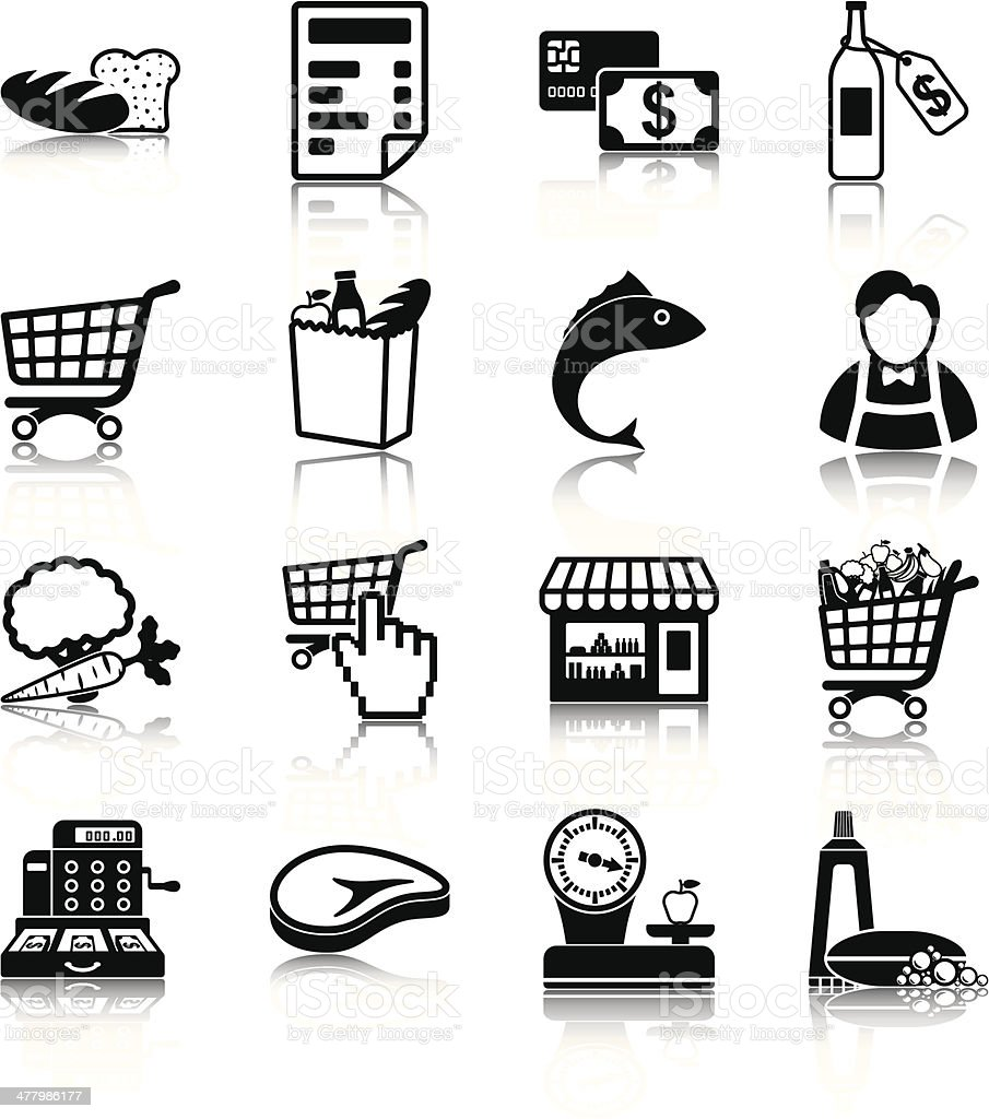Grocery vector art illustration
