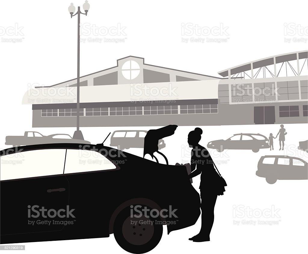 GroceryParking - Illustration vectorielle