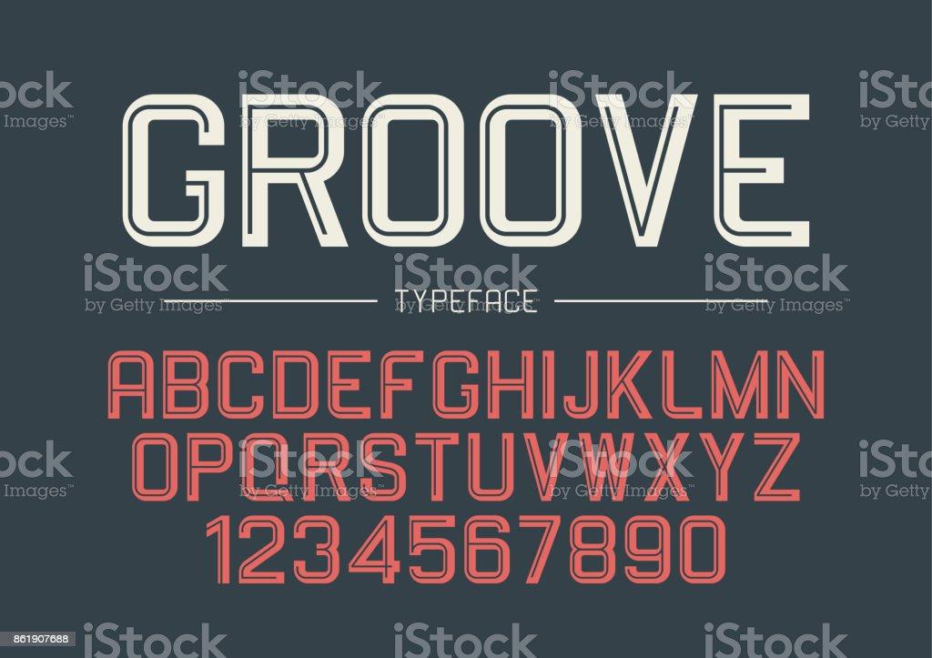 Groove Vector Decorative Bold Font Design Alphabet Typeface