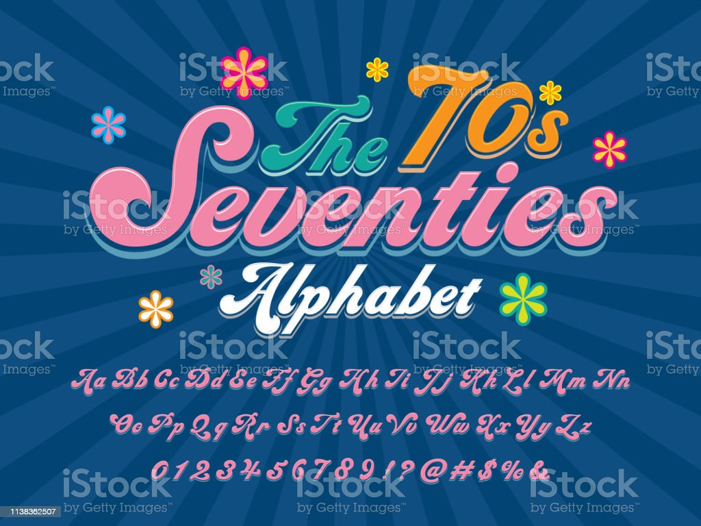 Groovy Font Stock Illustration - Download Image Now - iStock