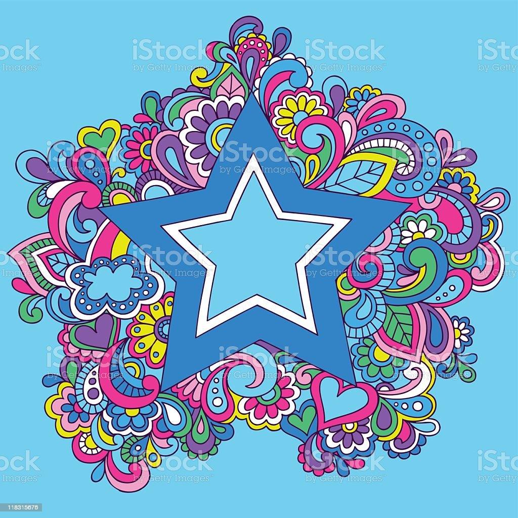 Groovy Psychedelic Star Vector Illustration vector art illustration