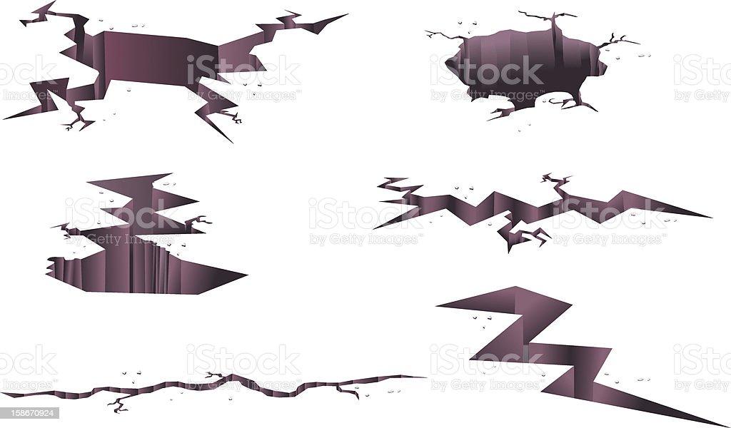 Ground Cracks Vector vector art illustration
