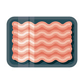 istock Ground Meat Icon on Transparent Background 1283419507