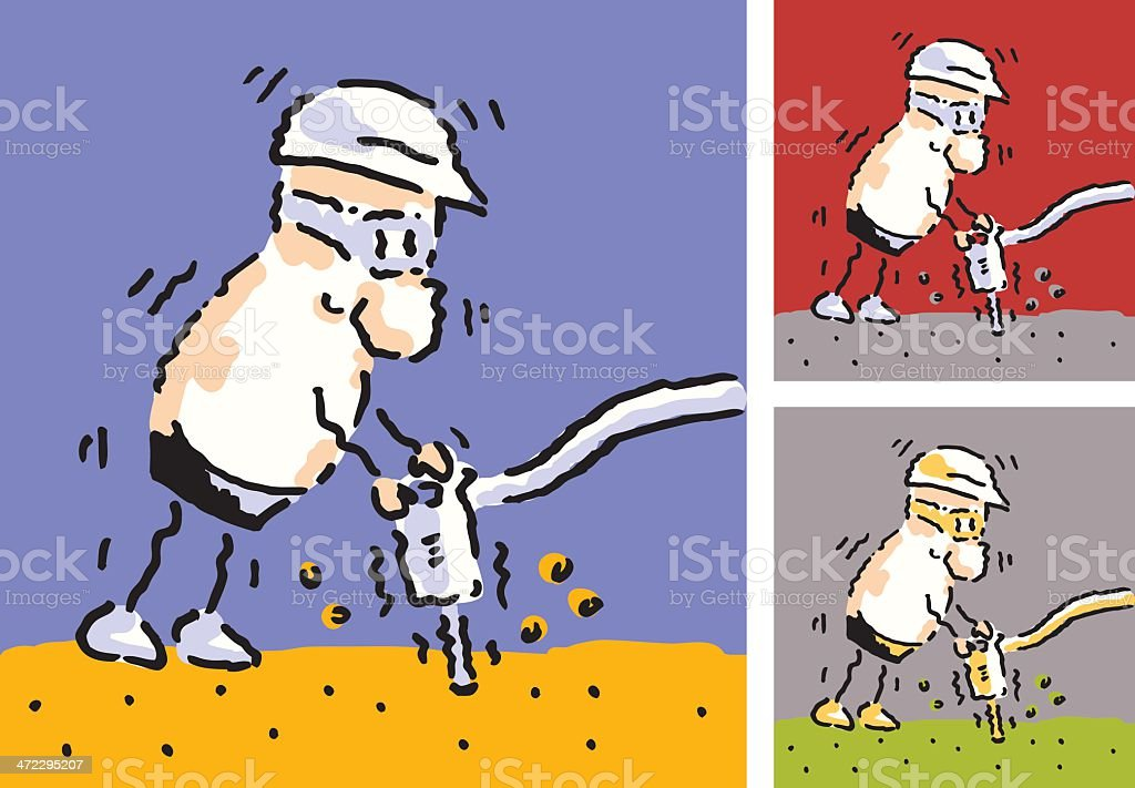 Ground Worker royalty-free stock vector art