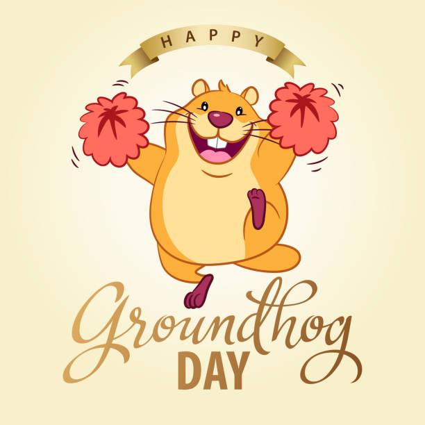 ilustraciones, imágenes clip art, dibujos animados e iconos de stock de invitación de fiesta de día de la marmota - groundhog day