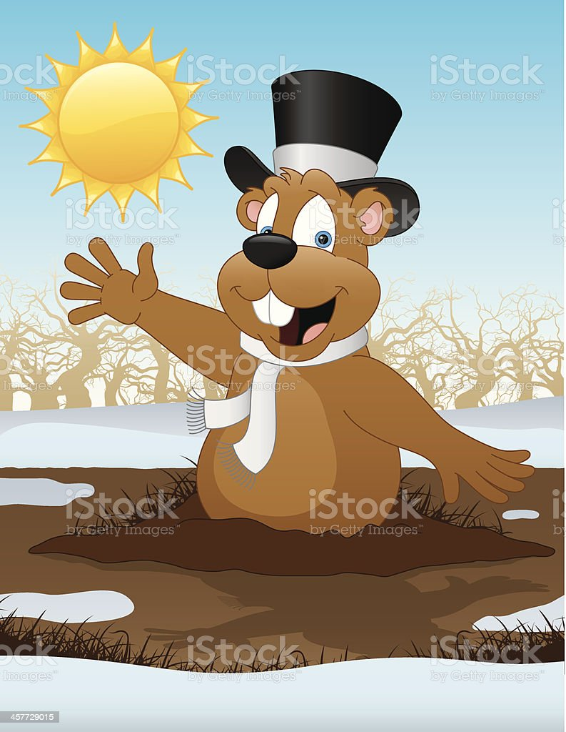 Groundhog Day royalty-free stock vector art